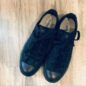 Converse All Black Chuck Taylor Sneakers 7.5